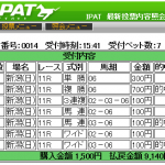 京成杯オータムハンデを手動モードで少点数的中(複勝・馬連・ワイド)しました。
