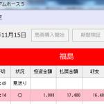プレミアムホース5が投資1レース目で回収率1740%達成!