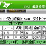 ラジオNIKKEI杯京都2歳ステークスはMONSTERなどで的中です。