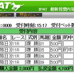 今日は絶対法則アレンジ2で複勝940円を大的中!