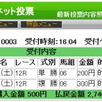 中山最終はAコード決着!単撃ロボ3やGeniusでも単勝的中。