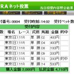 安田記念はジャッジメントとパフォーマンスホースEXのワンツー決着!単勝爆弾買いで的中しました。