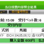 新潟記念を超人とジャッジメントの合わせ技でワイド8570円を的中!
