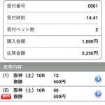 マスターシステムが超人気薄馬を狙って複勝1050円を的中させました。